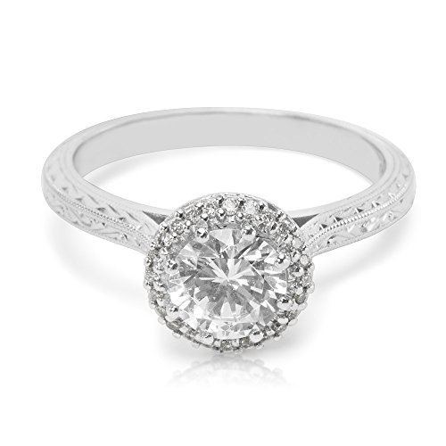BRAND NEW Tacori Halo Engagement Ring Setting in Platinum 2502 RDE 6 (0.13 ()