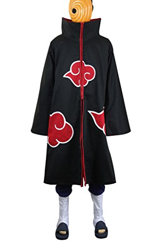 Mtxc Men's Naruto Cosplay Costume Tobi/Obito Uchiha Outfits Size X-Large Black