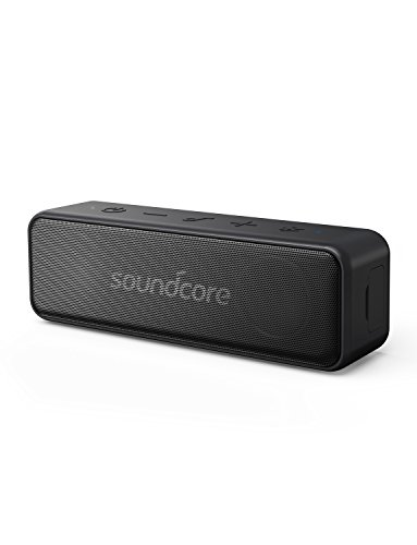 Soundcore Motion B Portable Bluetooth Speaker by Anker, with 12W Louder Stereo Sound and BassUp technology, 12+ Hr Longer-Lasting Playtime, IPX7 Waterproof for Home, Outdoors, and On-The-Go