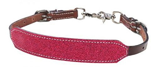 Showman PONY Size PINK Glitter Overlay Leather Wither Strap 2 Trigger Snaps by Shiloh