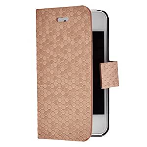 ZL Solid Color Diamond Pattern Full Body Case with Magnetic Snap for iPhone 4/4S