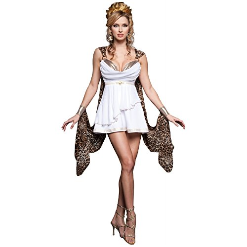 InCharacter Costumes Women's Gorgeous Goddes Costume, White/Leopard, Small]()