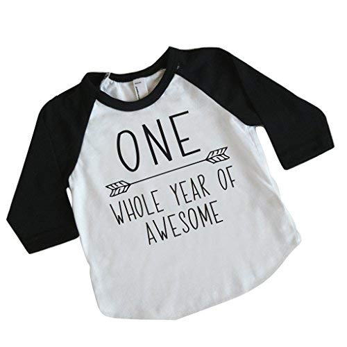 Boy First Birthday Shirt, 1st Birthday Boy Outfit (12-18 Months) ()