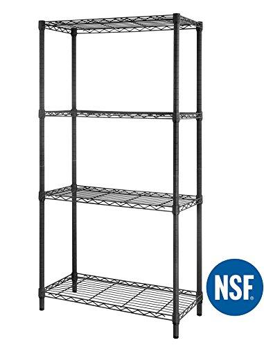 eeZe Rack ETI-005 HEAVY DUTY Steel Wire Shelving, Storage Rack, NSF CERTIFIED, 30x14x60-inches (Gray) (NEW) (Wire For Sale Wine Racks)