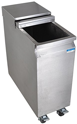 Stainless Steel Mobile Ice Bin on Casters - 53 lbs Ice Capacity by BK Resources