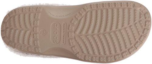 Crocs Classic Mammoth Lined Clog 203596 -  Zuecos Unisex Adulto Marrone (Khaki/Oatmeal)
