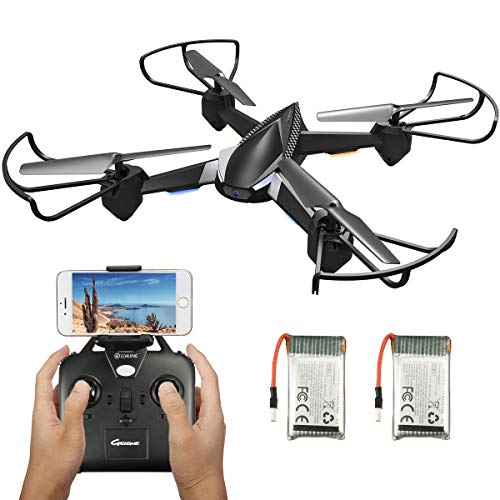 Drone with Camera Live Video,EACHINE E32HW WiFi FPV with 720P HD Camera Altitude Hold RC Drone Quadcopter RTF – Two Batteries