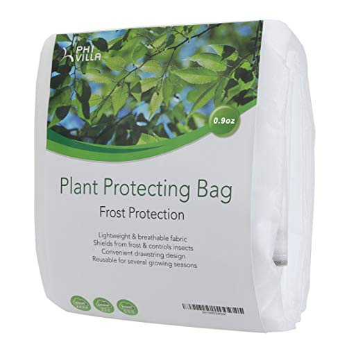 PHI VILLA Plant Cover for Winter, Thick Plant Protector Bags Frost Blanket, 0.9 oz, 60″ x 30″