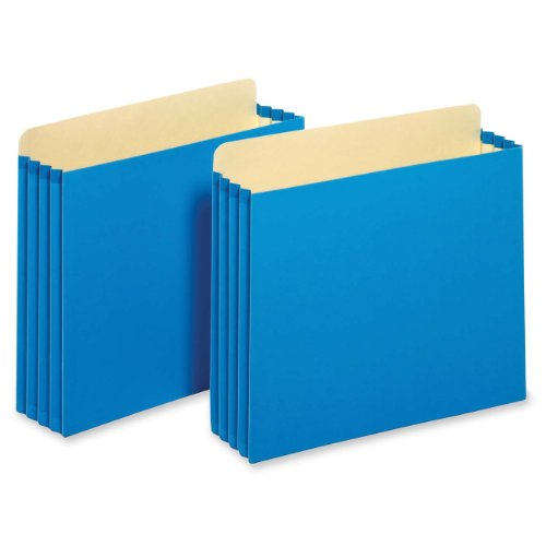 [Globe-Weis/Pendaflex Heavy Duty File Cabinet Pockets, 3.5-Inch Expansion, Letter Size, Blue, 10-Count (FC1524E BLU)] (Expansion File Cabinet Pocket)
