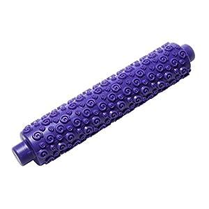 Super cooler lila Teigroller Nudelholz mit eingeprägten Formen Modellen...