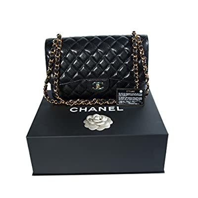 Chanel Women's Black Quilted Leather Shoulder Double Flap Bag