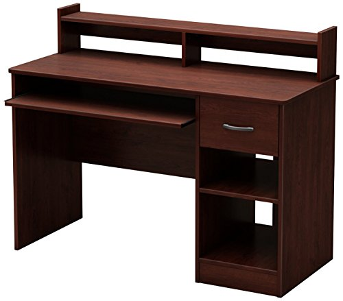 South Shore Axess Desk with Keyboard Tray, Royal Cherry Wood Tray Tables