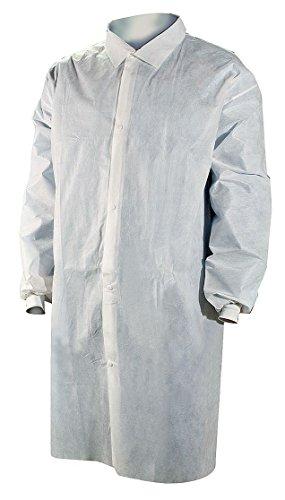 (Disp Lab Coat, SMS, White, 2XL, PK25)
