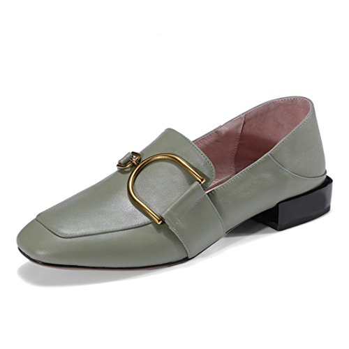 Klassieke Casual Loafers Voor Dames - Mocassins Met Zachte Slip Op Schoenen D3127y Groen