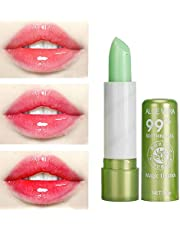 Aloe Vera Moisturizing Color,Changing Lip Balm Gloss Lipstick Beauty Tool