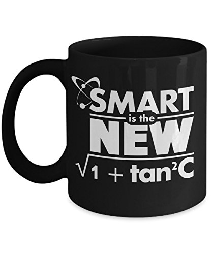 Smart is the New 1 + Tan2C - Funny Math and Geeky Gift - Unique Black Coffee Mug - AIE Inspirations (The Big Bang Theory Halloween Episodes)