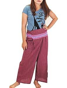 Flower Thai Fisherman Pants Yoga Trousers FREE SIZE Plus Size Cotton