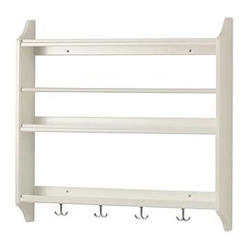 Ikea Stenstorp Tellerregal In Weiß 80x76cm Amazonde Küche