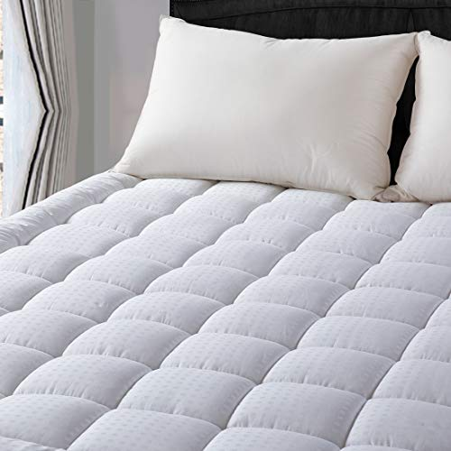 LEISURE TOWN King Cooling Mattress Pad Cover-Fitted Quilted