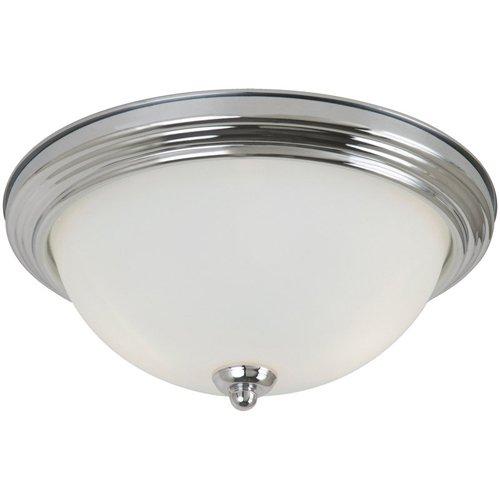 Seagull 77065-05 Three 77065-05-Three Light Ceiling Flush Mount Chrome