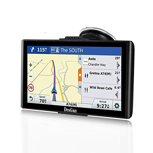 GPS Navigation for Car, 7″ HD Touch Screen 8GB-256MB Real Voice Spoken Turn-by-Turn Direction Reminding Navigation System for Cars, Rapid Positioning with Free Lifetime Map Update