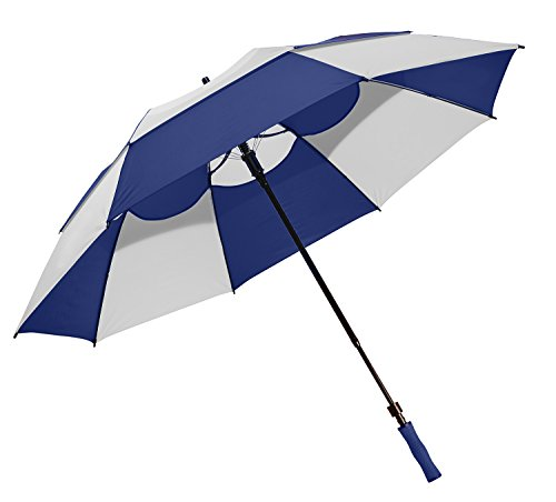 Bag Boy Telescoping Wind Vent Umbrella, Navy/White (Vent Wind)