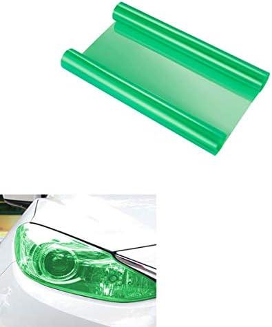 Voarge Scheinwerfer-Folie Gelb 30 * 120cm, Wasserdicht Auto Scheinwerfer Folie Tönungsfolie Nebelscheinwerfer (Grün)