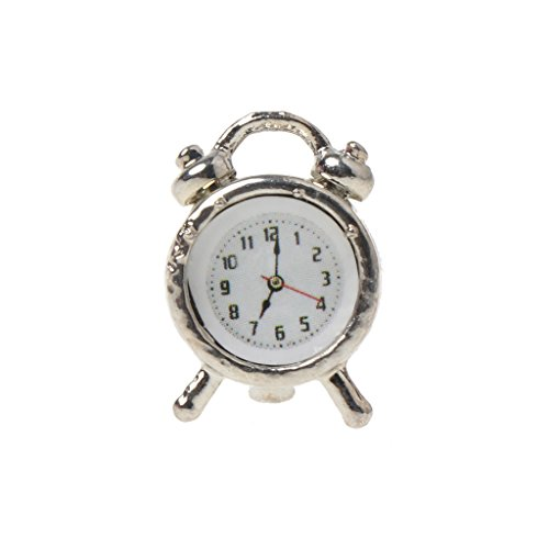 Lamdoo 1:6/1:12 Scale Alarm Clock Dollhouse Decoration Miniature Toy Doll Accessories E (Clock Alarm Scale)