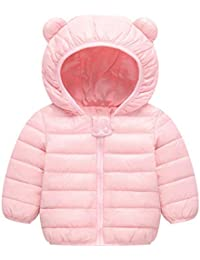c9911d8a6682 Baby Boys Girls Winter Coats Hoods Light Puffer Down Jacket Outwear