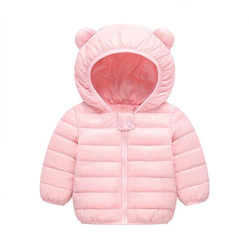 BSC007 Baby Boys Girls Winter Coats Hoods Light Puffer Down Jacket Outwear ()