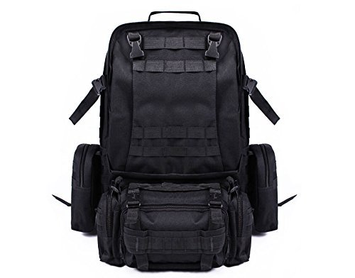 Tactical Sling Bag Pack Military Rover Shoulder Sling Backpack Molle Assault Range Bag Everyday Carry Bag Day Pack with Tactical USA Flag (Everyday Sling Bag)