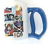 Disney Parks Limited Edition 60th Diamond Celebration 1965-1974 Decades Mary Blair style Ceramic Coffee Mug Cup