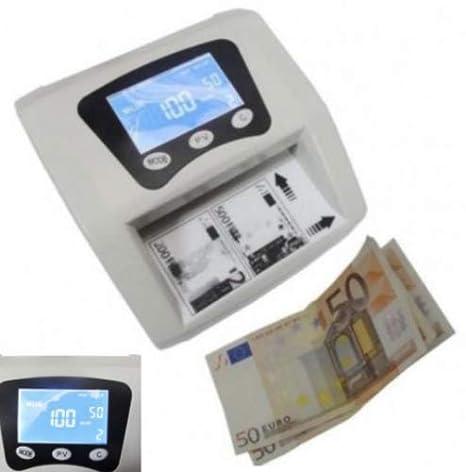 Dobo Detector de billetes falsos dinero falsos detector portátil cuenta euros money detector dinero control falsificación