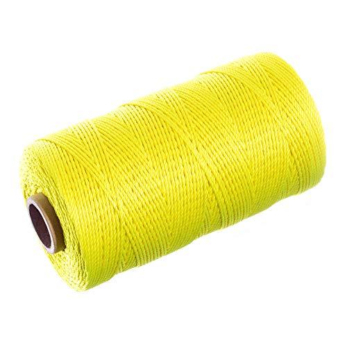 Braided Nylon Mason Line - Twine Cord (1000 Feet, Fluorescent Yellow)