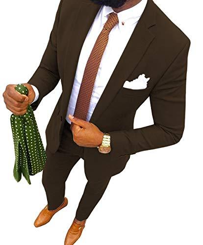 Aesido Fashion Men's Suits Slim Fit 2 ()