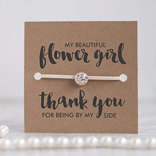 Thank you flower girl gift, Thank you for being my flower girl bracelet, Flower girl gifts, - Swanky Girl