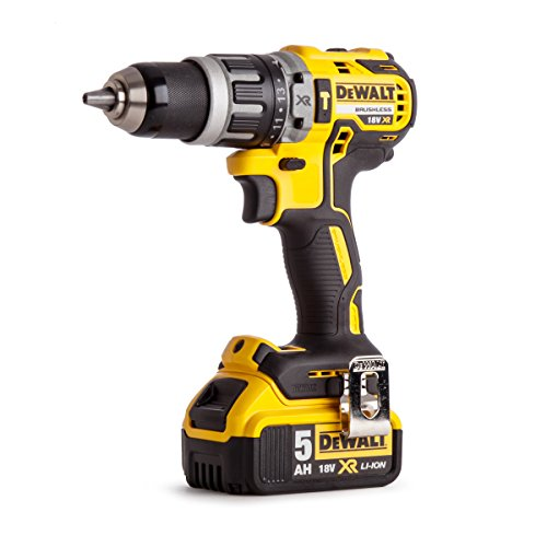 DEWALT DCD796P1-GB XR Brushless Compact Lithium-Ion Combi Drill, 18 V,...