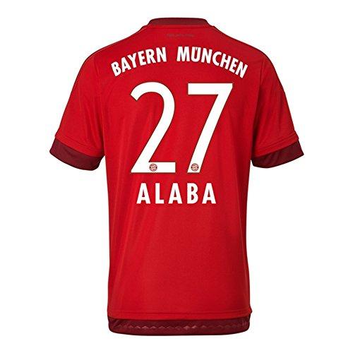 伝導率着替える移行Adidas ALABA #27 Bayern Munich Home Jersey 2015-16(Authentic name & number)/サッカーユニフォーム FCバイエルンミュンヘン ホーム用 アラバ