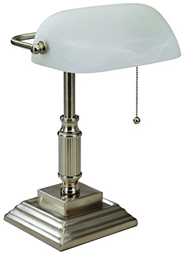 Contemporary Lamp Bankers (V-LIGHT Banker's Desk Task Lamp, Brushed Nickel (VS688029BN))