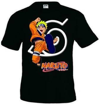 Mx Games Camiseta Naruto Kick Manga Corta Negra (Talla: 11-12 años): Amazon.es: Juguetes y juegos