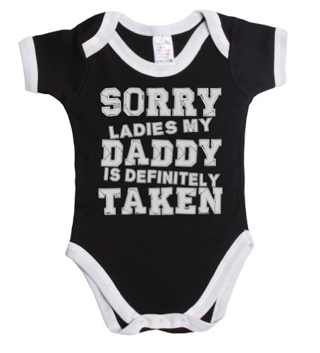 a33907d7dfcf2 Amazon.com: Sorry ladies my daddy is definitely taken funny baby boy/girl  babygrow vest ~: Clothing