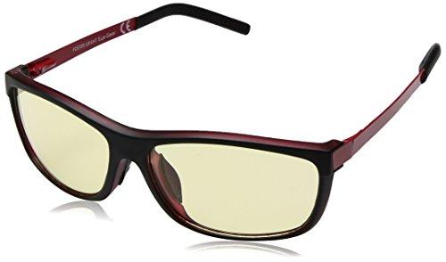Foster Grant Eye Gear Adult Rectangular Sunglasses, Matte Black Over Red, 59 - Sunglasses Gunner