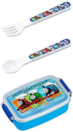 - Thomas and Friends - Set of Three - Thomas, Percy, James Lunch (Bento) Box, Spoon and Fork