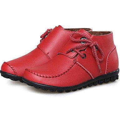Up Donna Lace Bootie Di 5 Stivaletti Da Boots Pelle UK2 Tacco Scarpe Per EU34 Fall Outdoor Stivali Nappa Snow Babbucce 2 Winter 5 In Stivali Casual Fashion US4 RTRY CN33 Piatto 4 w6HXxq
