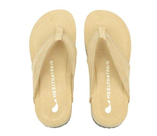 Price comparison product image Heel That Pain Heel Seat Sandals for Plantar Fasciitis, Heel Spurs, and Heel Pain, Tan (Men's 5, Women's 6)