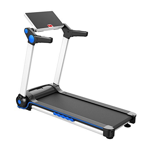 IUBU Fitness Folding Treadmill Rotatable Touch Screen App Control Free Installation Running Machine for Home