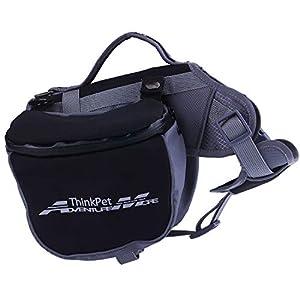 ThinkPet Outdoor Dog Backpack Reflective Saddle Bag - Dog Pack Double Bag for Hound Travel Rucksack for Medium Large Dogs 2