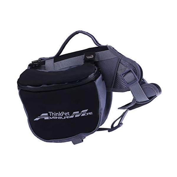 ThinkPet Outdoor Dog Backpack Reflective Saddle Bag - Dog Pack Double Bag for Hound Travel Rucksack for Medium Large Dogs 1