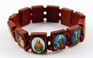 china jewelry product glory rosary stretch religious jesus black com wooden from wood bracelet bracelets dhgate