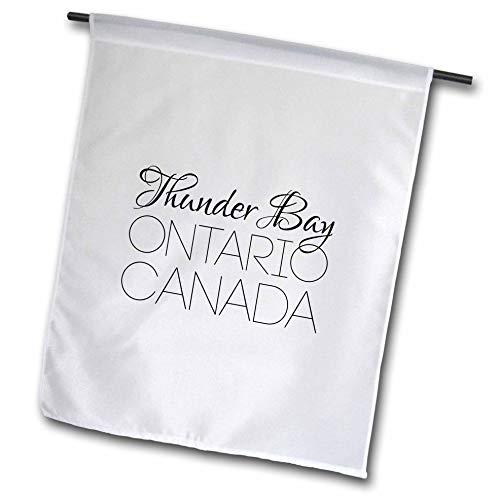 3dRose Alexis Design - Canadian Cities - Thunder Bay Ontario, Canada. Chic, Unique Patriotic Home Town Gift - 12 x 18 inch Garden Flag (fl_304853_1)